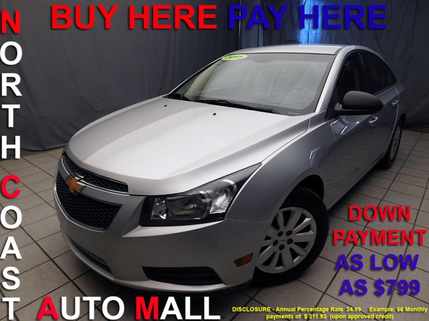 2011 chevrolet cruze ls as low as 799 down city ohio north coast auto mall of cleveland. Black Bedroom Furniture Sets. Home Design Ideas