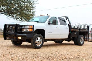 2011 Chevrolet Silverado 3500 HD DRW LTZ Crew Cab 4X4 6.6L Duramax Diesel Auto Cannonball Bale Bed Sealy, Texas 5