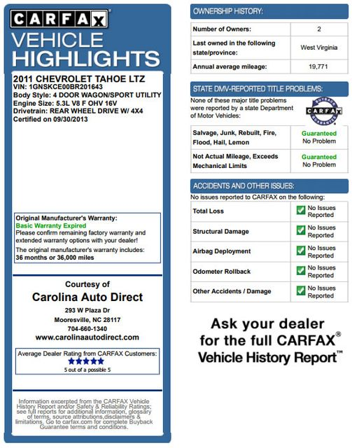 2011 Chevrolet Tahoe LTZ 4X4 - NAVIGATION - REAR DVD - SUNROOF! Mooresville , NC 3