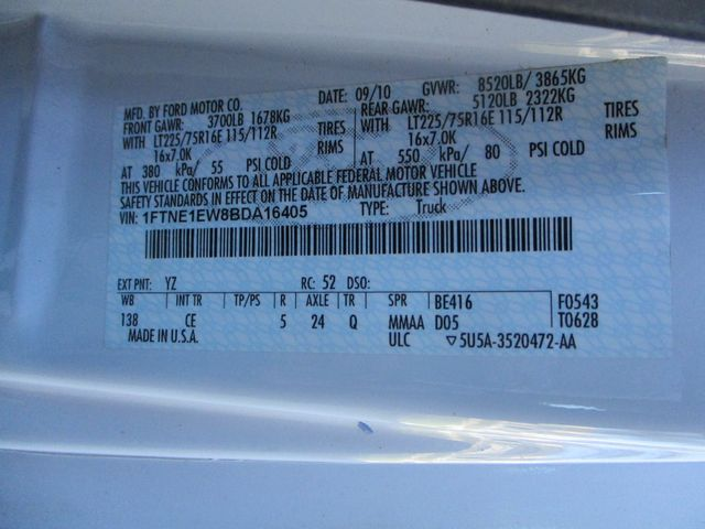 2011 Ford E-Series Cargo Van Bins & Bulkhead Plano, Texas 38