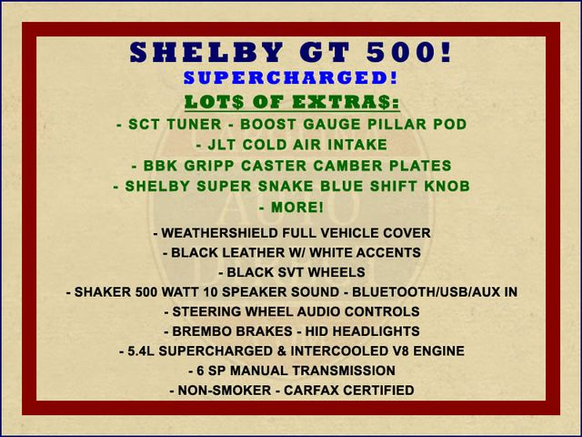 2011 Ford Mustang Shelby GT500 - LOT$ OF EXTRA$! Mooresville , NC 1