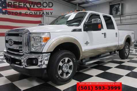 2011 Ford Super Duty F-250 Lariat FX4 4x4 Diesel White New Tires Leather in Searcy, AR