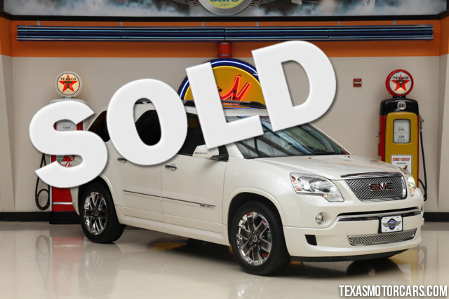 2011 GMC Acadia Denali This Carfax 1-Owner 2011 GMC Acadia Denali is in great shape with only 38 6