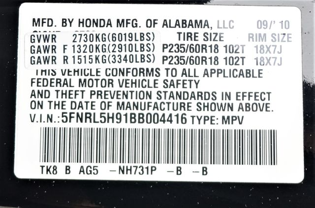 2011 Honda Odyssey Touring Reseda, CA 55