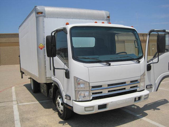 2011 Isuzu NPR Diesel, 14ft Box Van with Liftgate, 1 Owner, Ready to Work, Low Miles Plano, Texas 1