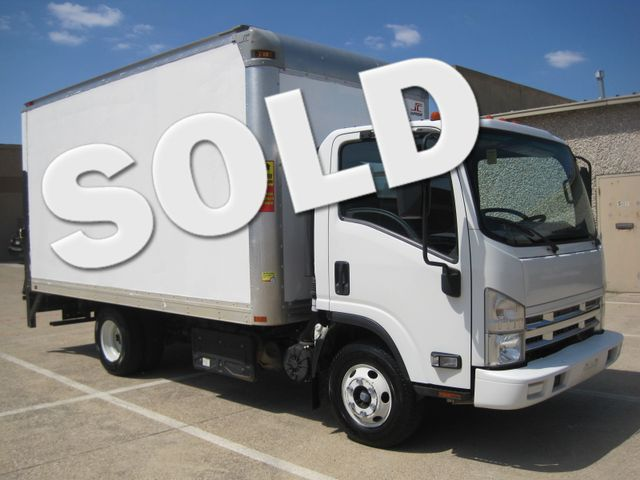 2011 Isuzu NPR DSL  14Ft Box Van, with Liftgate, 1 Owner, Low Miles Plano, Texas 0