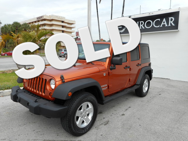2011 Jeep Wrangler Unlimited Sport 4 Wheel Drive Come to the experts Your quest for a gently use