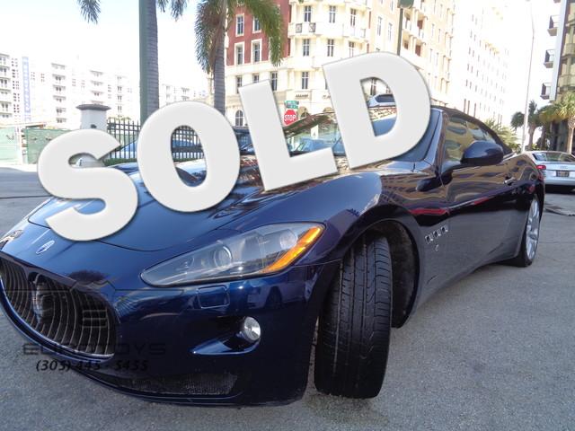 2011 Maserati GranTurismo Convertible S  ONLY 9360 MILES GRANTURISMO S ONE OF SOUTH FLORIDA