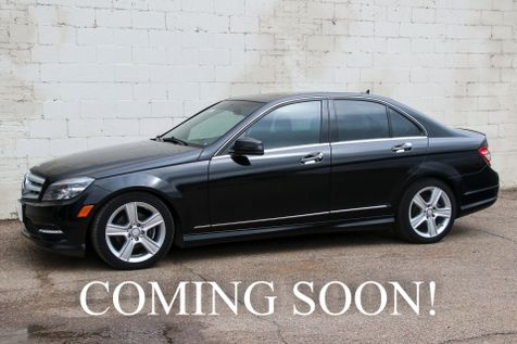 2011 Mercedes-Benz C300 Sport 4Matic AWD Luxury Car with Premium Pkg, Heated Seats, Moonroof and Two-Tone Interior in Eau Claire
