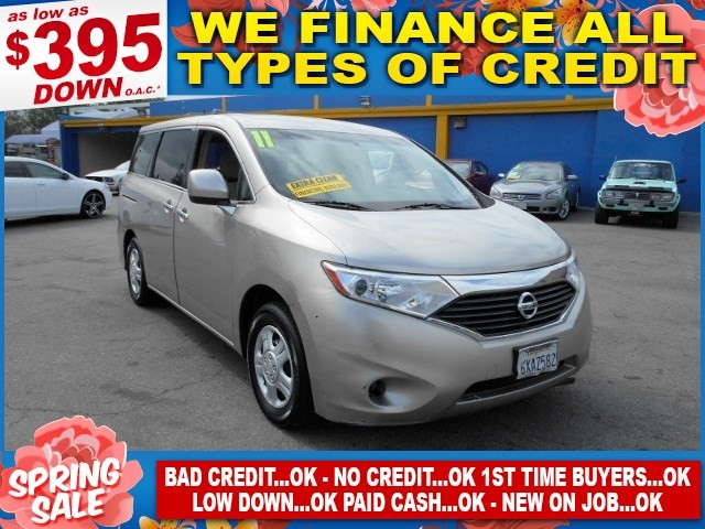 2011 Nissan Quest S Limited warranty included to assure your worry-free purchase AutoCheck report