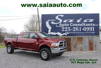 2011 Ram Dodge 2500 Mega Cab Slt 4wd 6.7 Diesel Leveled Rims Tires Loaded NO FLOOD CLEAN CARFAX | Baton Rouge , Louisiana | Saia Auto Consultants LLC-[ 2 ]