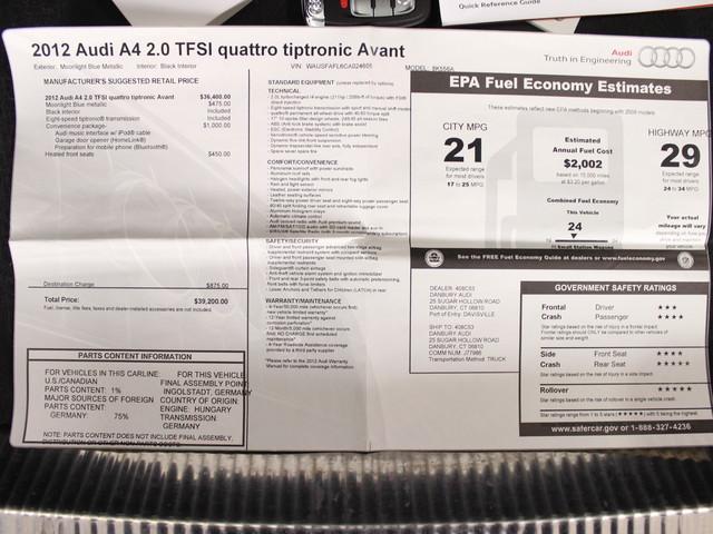 2012 Audi A4 B8 2.0T Premium Matthews, NC 27