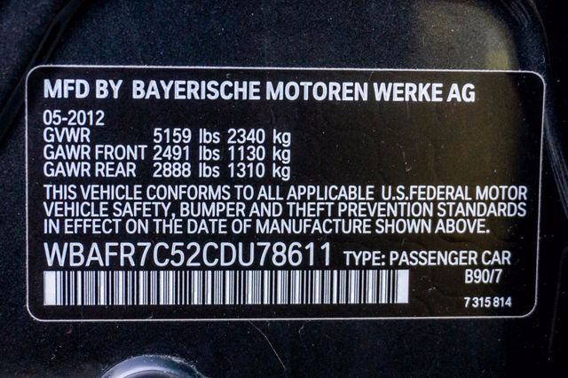 2012 BMW 535i 6SPD MANUAL - M-SPORT - NAVI - TECH PKG Reseda, CA 41