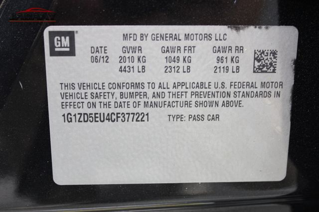 2012 Chevrolet Malibu LT w/2LT Merrillville, Indiana 46
