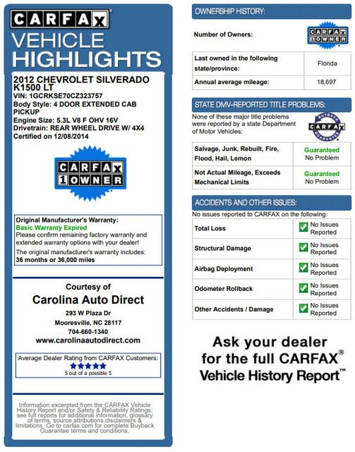 2012 Chevrolet Silverado 1500 LT EXT Cab 4x4 Z71 - ALL STAR - LEATHER! Mooresville , NC 3