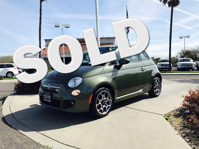 2012 FIAT 500 Sport This is a 2012 Fiat 500 Sport Verde Olive Exterior Brown LeatherCloth Combo