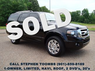 2012 Ford Expedition  LIMITED, 1-OWNER, NAVI, ROOF, 2-DVD's, 20's in  Tennessee