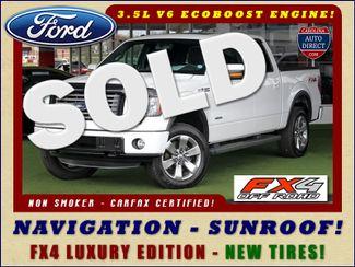 2012 Ford F-150 FX4 Luxury Edition SuperCrew 4X4 - NAV - SUNROOF! Mooresville , NC