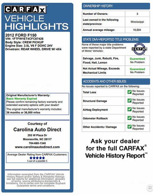 2012 Ford F-150 FX4 Luxury Edition SuperCrew 4X4 - NAV - SUNROOF! Mooresville , NC 4