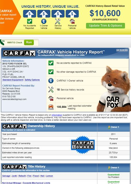 2012 Ford Fusion SEL Reseda, CA 1