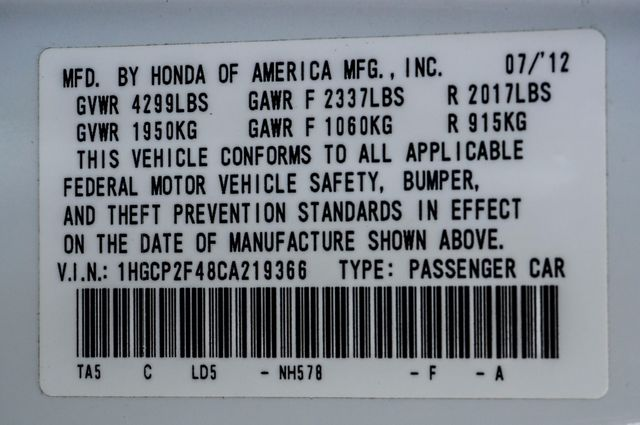 2012 Honda Accord LX Premium Reseda, CA 35