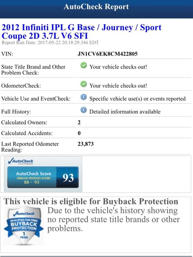 2012 Infiniti G37 Coupe Journey Jacksonville , FL 4
