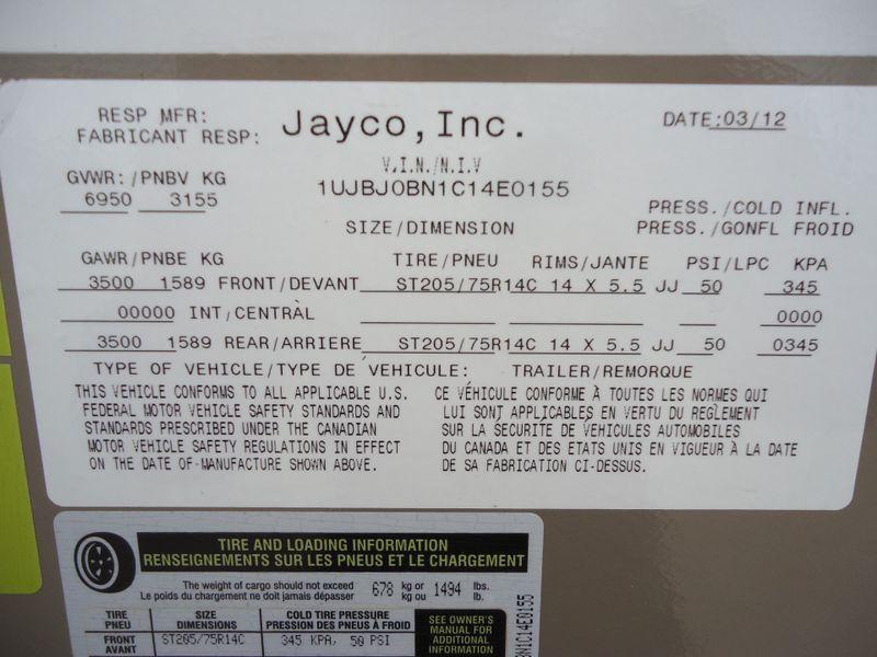 2012 Jayco White Hawk  26SRK  in Sherwood, Ohio