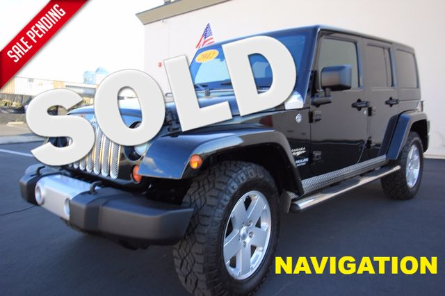 2012 Jeep Wrangler Unlimited* 4DR* 4X4* RARE MANUAL* HARDTOP Sahara* NAVI* PREM SOUND* CHROME* TOW PKG* WOW Las Vegas, Nevada 0