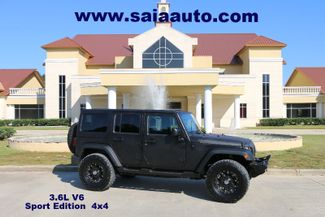 2012 Jeep Wrangler Unlimited Sport 4wd Auto  LINE X PAINT JOB LIFTED 35S ON 17S LOTS OF EXTRAS in Baton Rouge  Louisiana