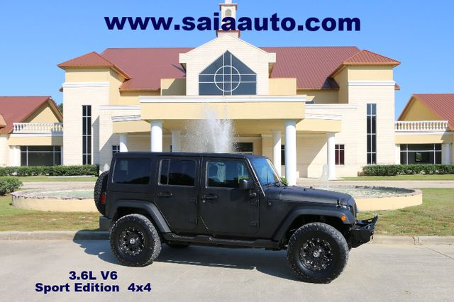 2012 Jeep Wrangler Unlimited Sport 4wd Auto  LINE X PAINT JOB LIFTED 35S ON 17S LOTS OF EXTRAS SERVICED DETAILED READY TO GEAUX   Baton Rouge , Louisiana   Saia Auto Consultants LLC in Baton Rouge  Louisiana