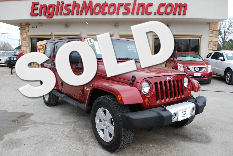 2012 Jeep Wrangler Unlimited Sahara Brownsville Tx English: english motors inc