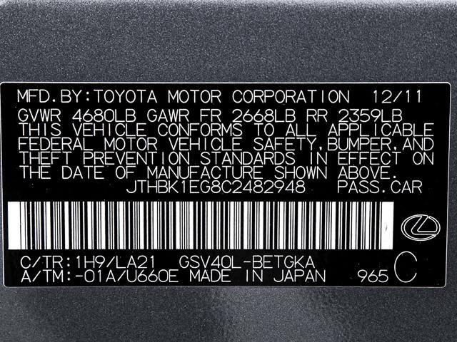2012 Lexus ES 350 Burbank, CA 22