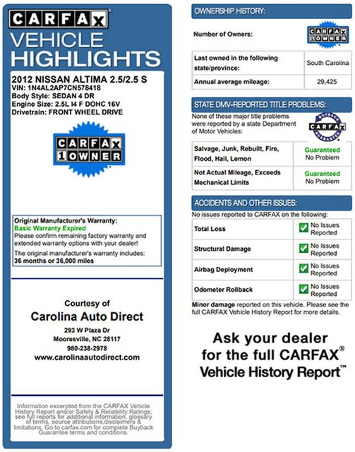 2012 Nissan Altima 2.5 S - POWER EVERYTHING - BLUETOOTH! Mooresville , NC 3