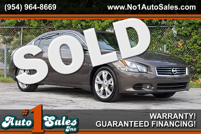 2012 Nissan Maxima 35 SV  WARRANTY CARFAX CERTIFIED 1 OWNER 6 SERVICE RECORDS FLORIDA VEHI