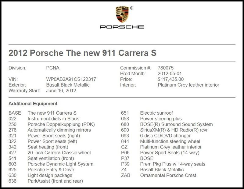 2012 Porsche 911 Carrera S in Carrollton, TX