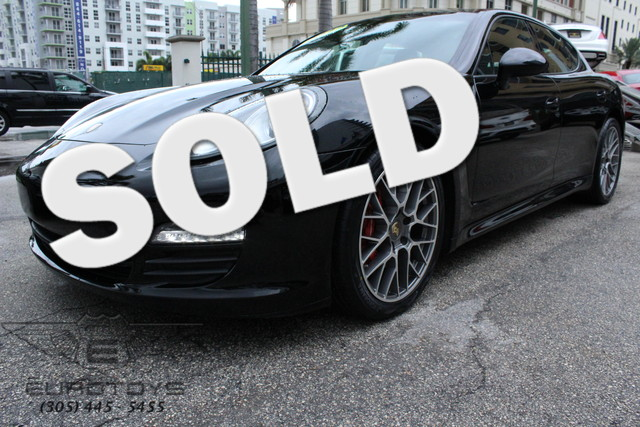 2012 Porsche Panamera 2012 PORSCHE PANAMERA BASALT BLACK METALLIC ON BLACK EQUIPPED WITH 18 PANAM