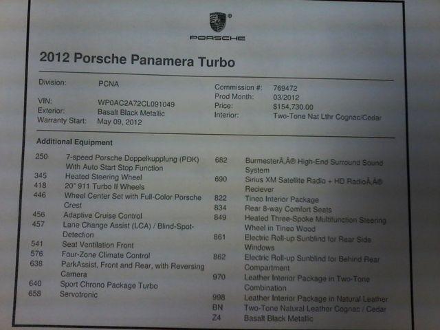 2012 Porsche Panamera Turbo San Antonio, Texas 52