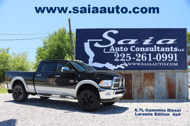 2012 Ram Dodge 2500 Crew Cab Laramie 4wd Diesel Flares Navi Roof Leveled 35s on 20s Deleted Tuned Exhuast Ram Box Loaded TWO OWNER CLEAN CARFAX | Baton Rouge , Louisiana | Saia Auto Consultants LLC in Baton Rouge  Louisiana