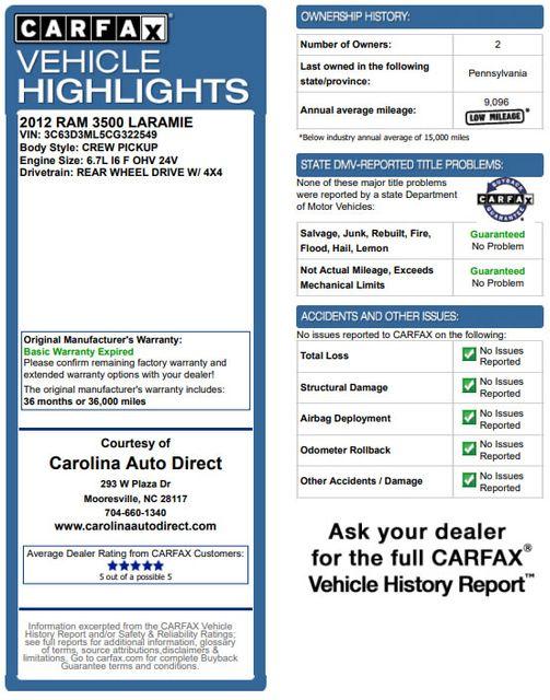 2012 Ram 3500 Laramie Mega Cab 4x4 -LIFTED-SINISTER DIESEL! Mooresville , NC 3