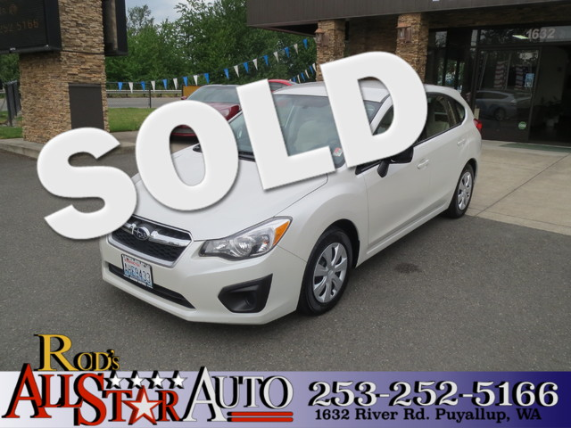 2012 Subaru Impreza 20i The CARFAX Buy Back Guarantee that comes with this vehicle means that you