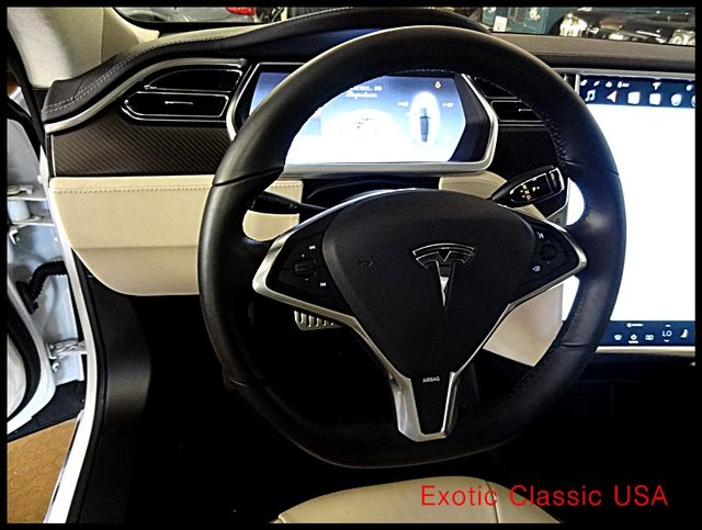 2012 Tesla Model S Signature Performance autographed by Elon Musk San Diego, California 55
