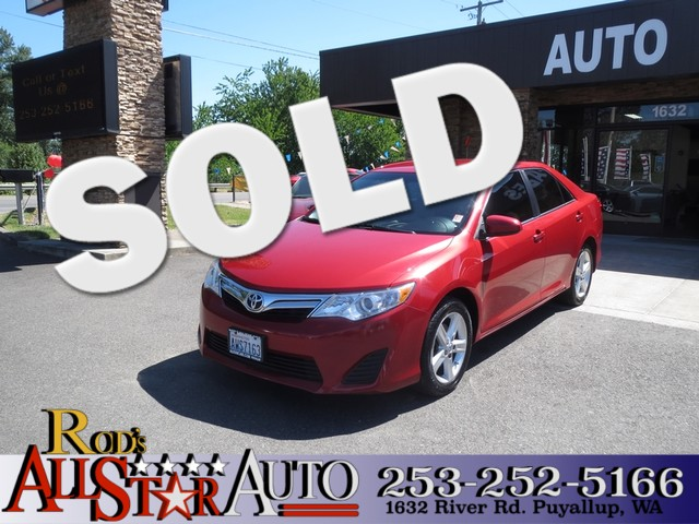 2012 Toyota Camry LE The CARFAX Buy Back Guarantee that comes with this vehicle means that you can