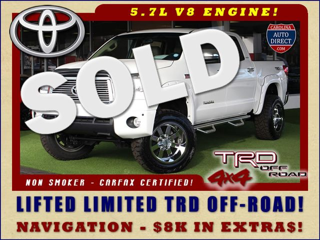 2012 Toyota Tundra LTD CrewMax 4x4 TRD OFF-ROAD - LIFTED Mooresville , NC 0