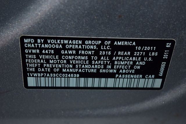 2012 Volkswagen Passat SE w/Sunroof Richmond Hill, New York 33