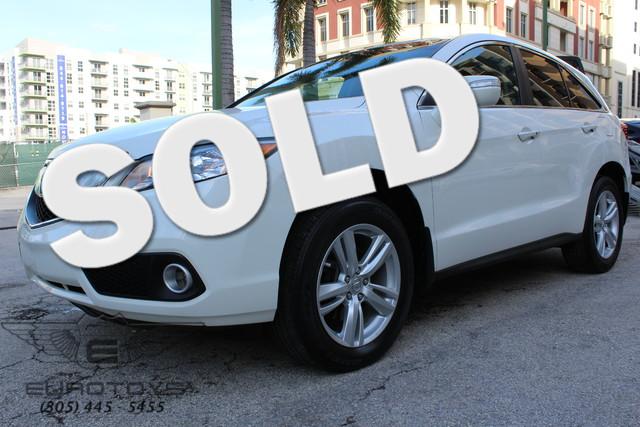 2013 Acura RDX Tech Pkg FRESH TRADE PEARL WHITE OVER PARSCHEMENT TECNOLOGIES PACK VIN 5J8TB3H55D