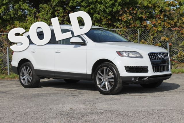 2013 Audi Q7 30T Premium Plus  WARRANTY CARFAX 1 OWNER 15 SERVICE RECORDS 3RD ROW SEAT FL