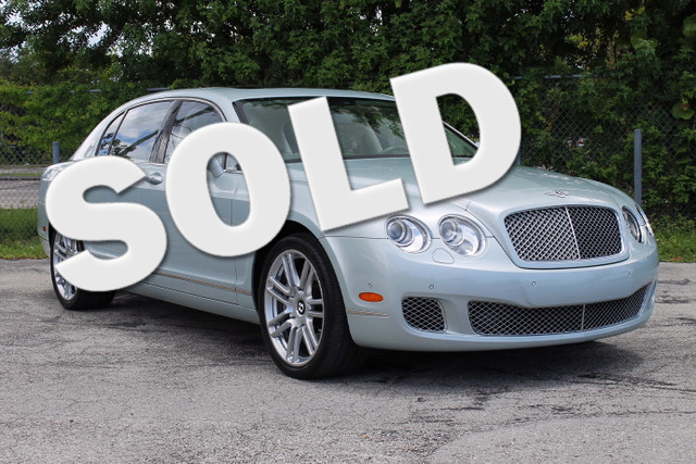 2013 Bentley Continental Flying Spur  LIKE NEW CARFAX CERTIFIED AUTOCHECK CERTIFIED FLORIDA