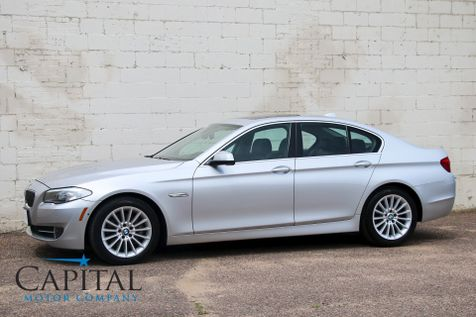 2013 BMW 535xi xDrive AWD w/Navigation, Blind Spot Monitor, Backup Cam, Bluetooth Audio & Cold Weather Pkg in Eau Claire