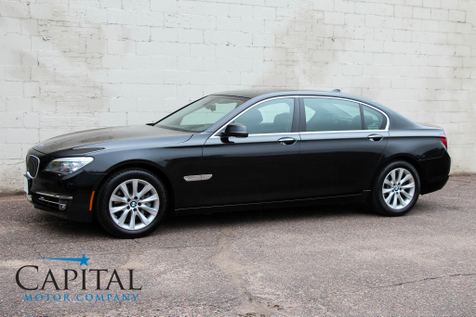 2013 BMW 740Li xDrive AWD Luxury Car w/Executive Package Heated/Cooled Seats, Navigation, 16-Speaker Audio in Eau Claire