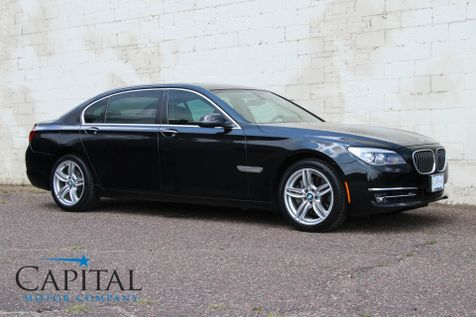 2013 BMW 7-Series xDrive AWD w/Executive Package, Heated & Cooled Seats, 16-Speaker Audio & 19